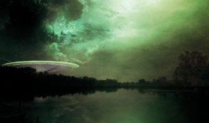 Futuristic Alien Science Fiction Ufo Cover